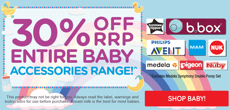 Mayhem Sale - 30% Off RRP price Baby Accessories