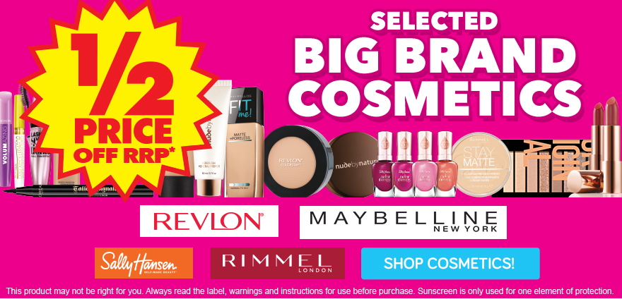 Mayhem Sale - 1/2 PRICE COSMETICS